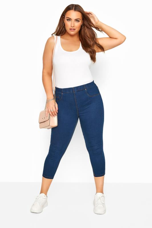 Plus Size Jeggings Blue Cropped JENNY Jeggings