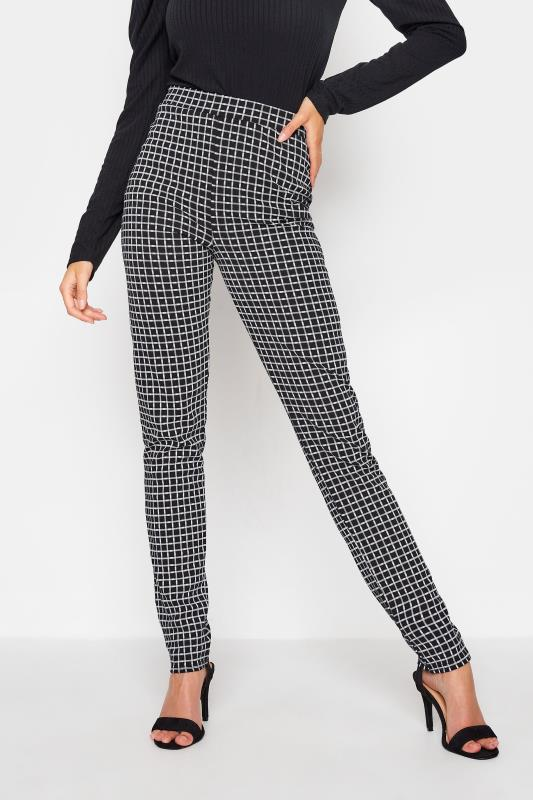 LTS Black Check Slim Leg Trousers_A.jpg