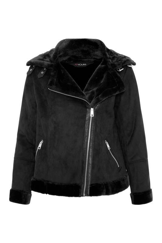 Black Faux Fur Trim Aviator Jacket_F.jpg