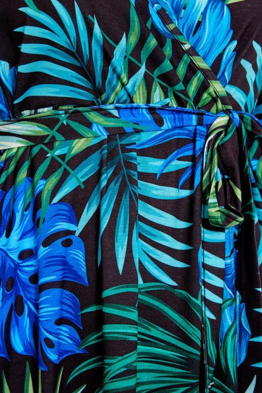 YOURS LONDON Black Tropical Wrap Dress_S.jpg