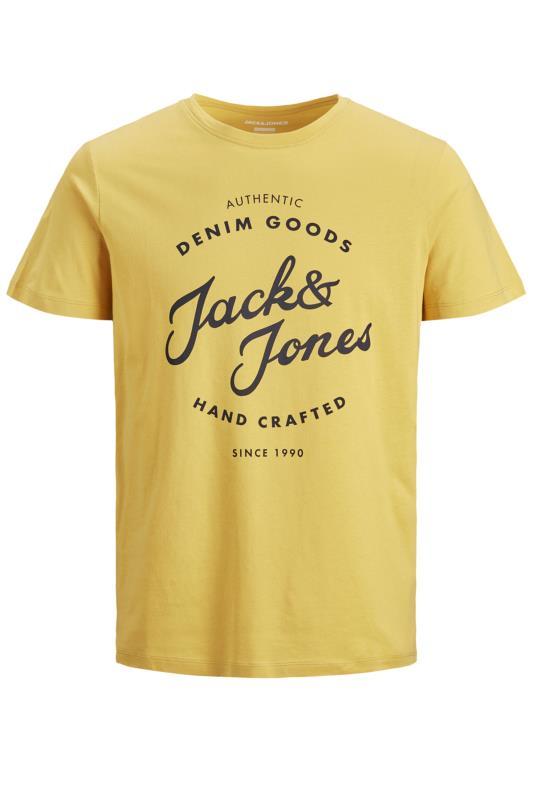 JACK & JONES Yellow Hero Logo T-Shirt