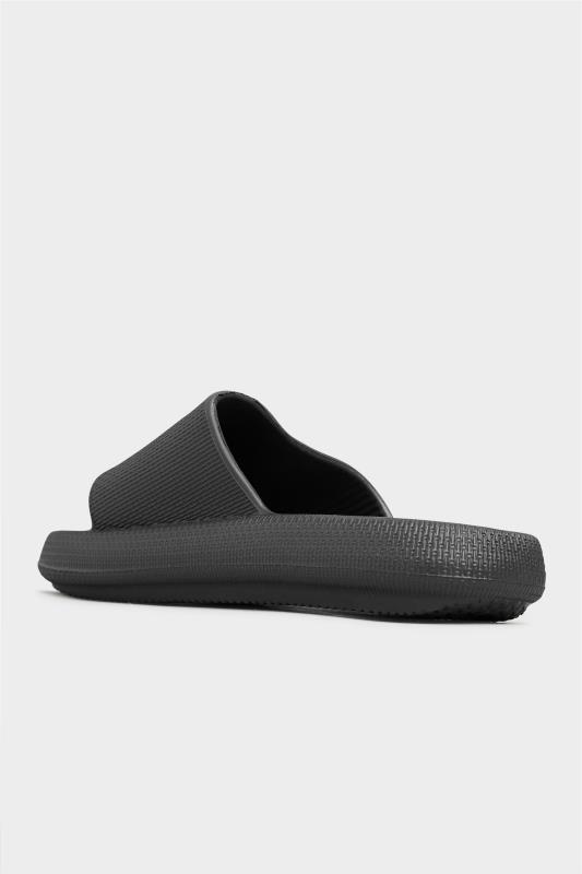 LIMITED COLLECTION Black Eva Sliders In Extra Wide Fit_D.jpg