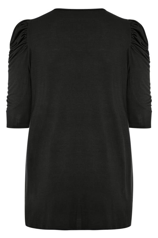 LIMITED COLLECTION Black Puff Shoulder Jersey Top
