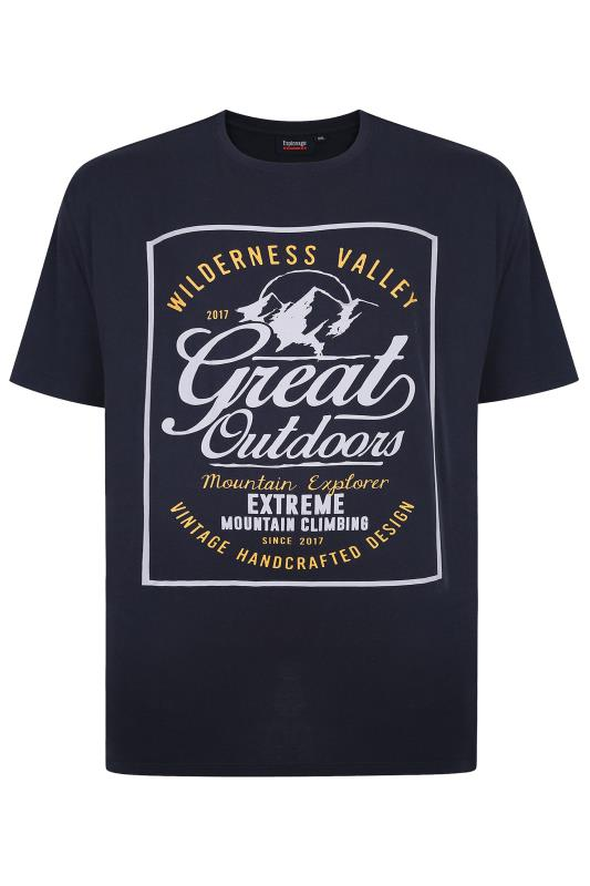 Casual / Every Day Grande Taille ESPIONAGE Navy Great Outdoors Graphic Print T-Shirt