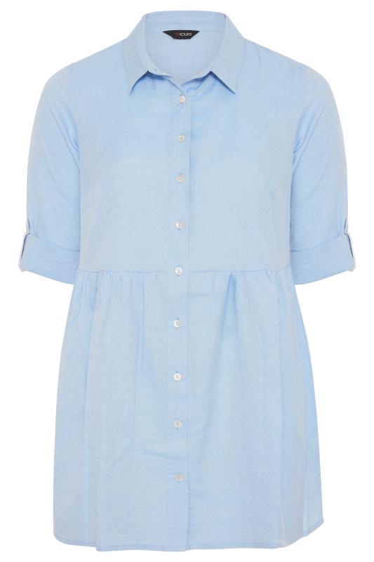 Light Blue Chambray Peplum Shirt_F.jpg
