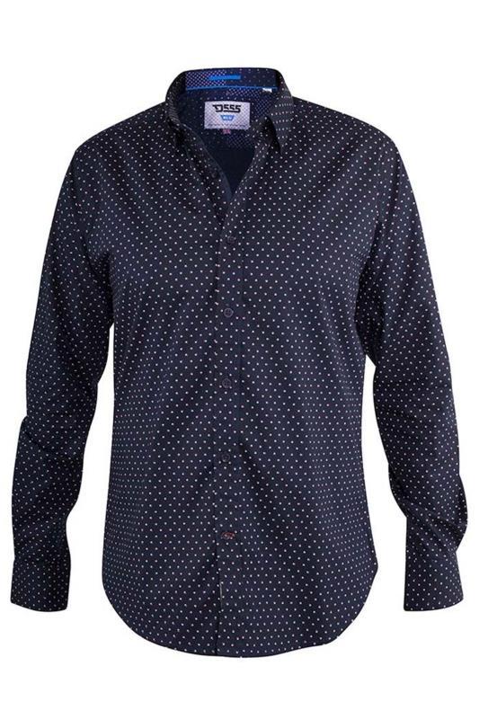 D555 Navy Adelaide Printed Shirt