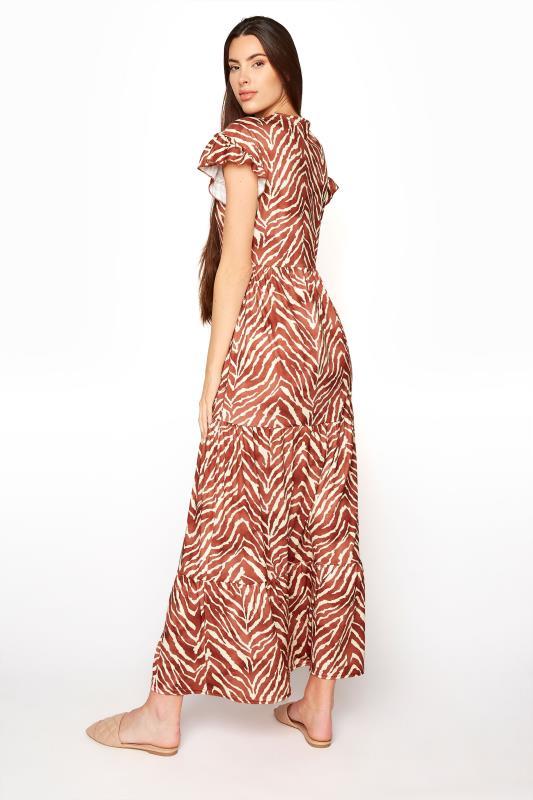 LTS Rust Zebra Print Tiered Midaxi Dress_C.jpg