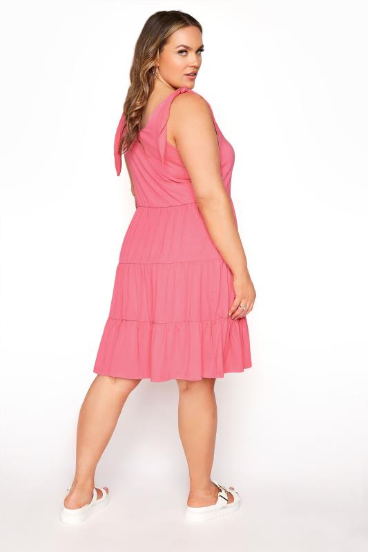 LIMITED COLLECTION Pink Tiered Jersey Dress_C.jpg