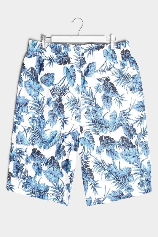 BadRhino White Hibiscus Cargo Swim Shorts_BK.jpg