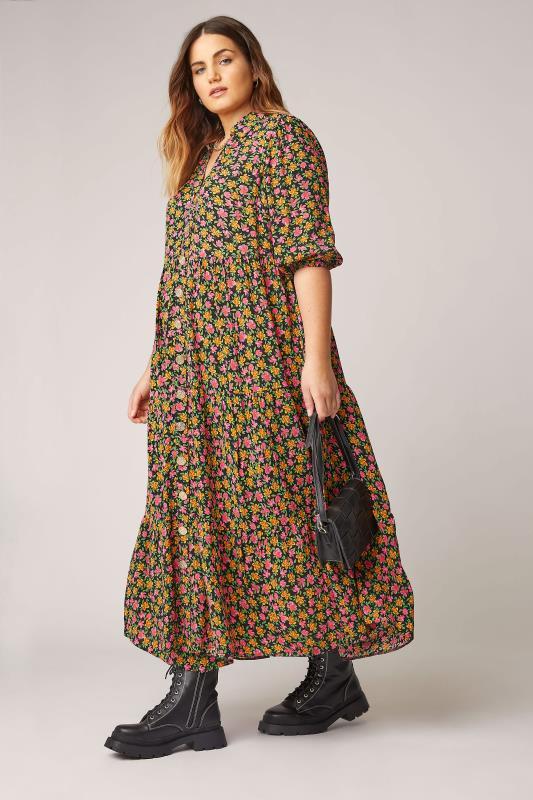 THE LIMITED EDIT Black Ditsy Tiered Dress_B.jpg