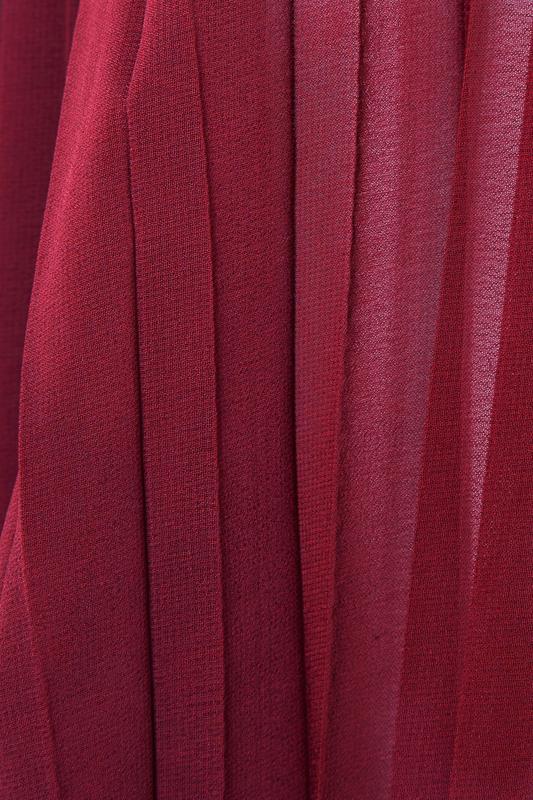 YOURS LONDON Burgundy Pleat Sleeve Shirt_S.jpg