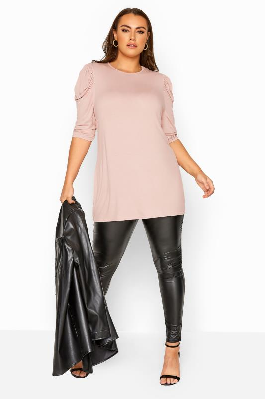 LIMITED COLLECTION Pink Puff Shoulder Jersey Top