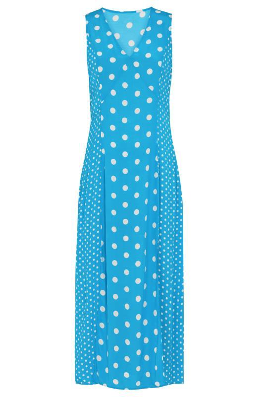 Blue Mix Spot Print Midi Dress_F.jpg