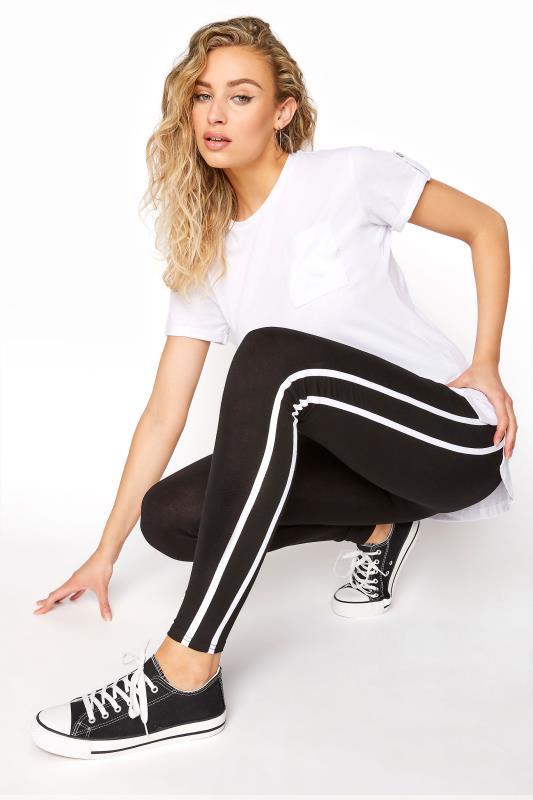 LTS Black Side Stripe Leggings