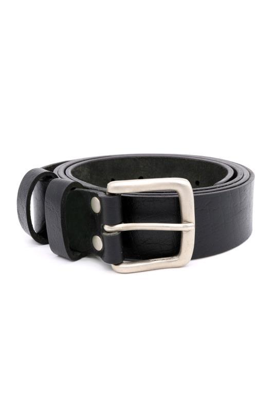 Men's  D555 Black Leather Belt