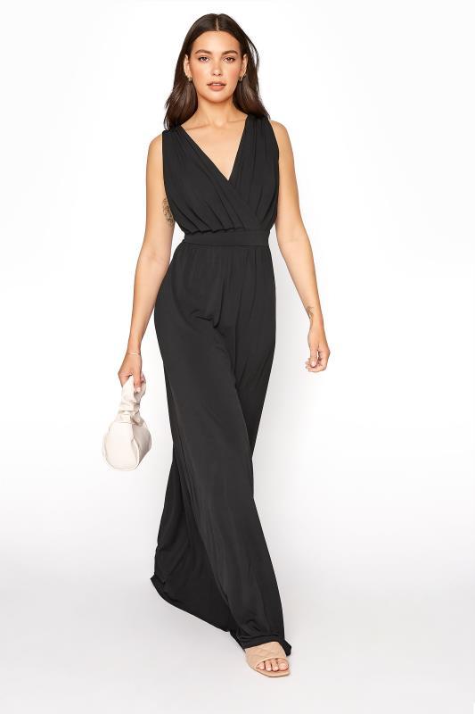 LTS Black Jersey Maxi Dress