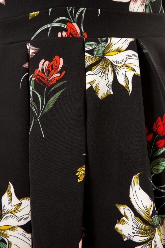 Black Floral Print Skater Dress_S.jpg