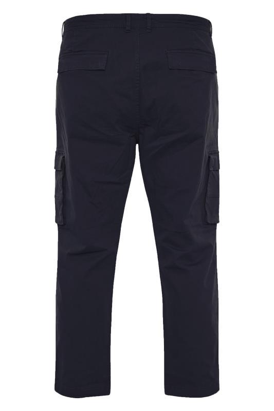 BadRhino Navy Stretch Cargo Trousers_BK.jpg
