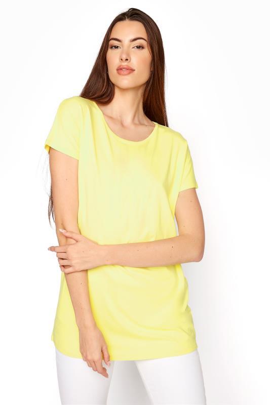 LTS Yellow Soft Touch Grown On Sleeve T-Shirt_A.jpg