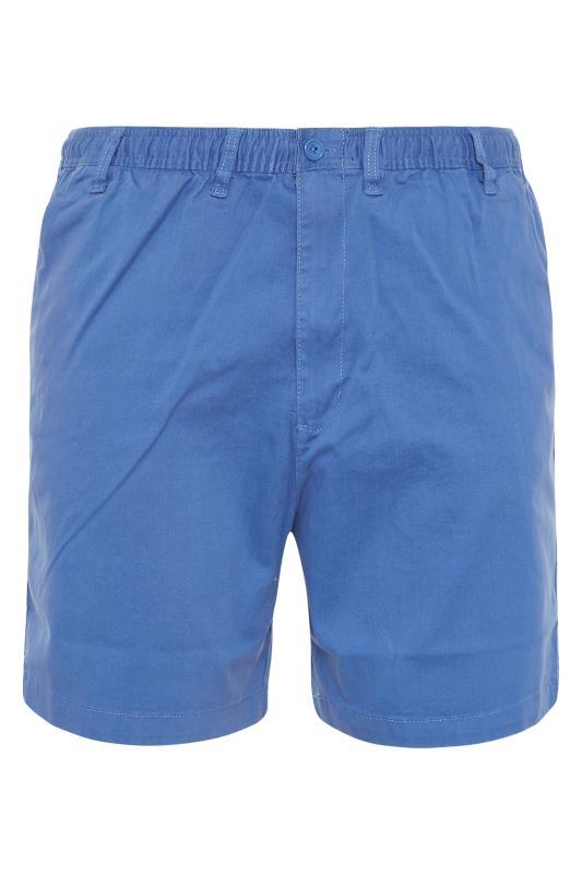 Großen Größen  ESPIONAGE Blue Stretch Rugby Shorts