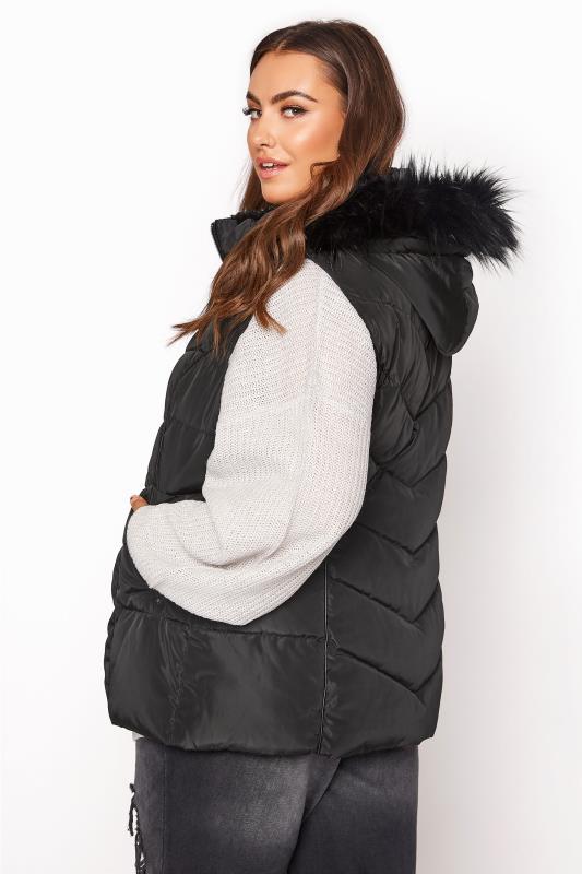 Black Faux Fur Hood Padded Gilet_RC.jpg