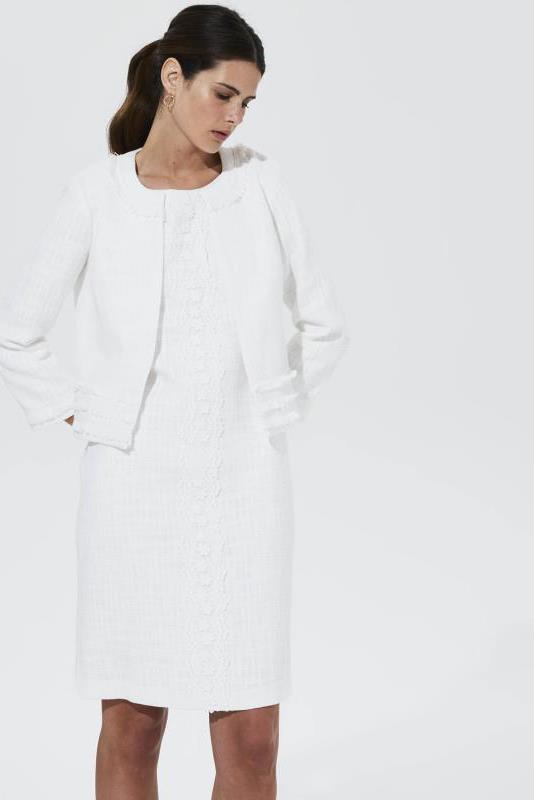 Karl Lagerfeld Paris Tweed Cropped Jacket