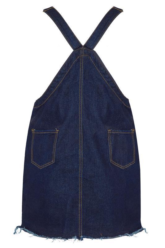 LIMITED COLLECTION Dark Blue Distressed Pinafore Dress_BK.jpg