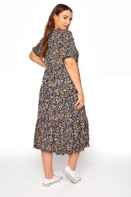 Black Paisley Print Puff Sleeve Midaxi Dress_C.jpg