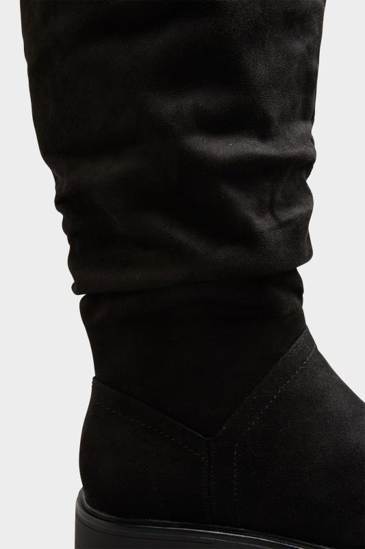 Black Ruched Cleated Boots In Regular Fit_E.jpg