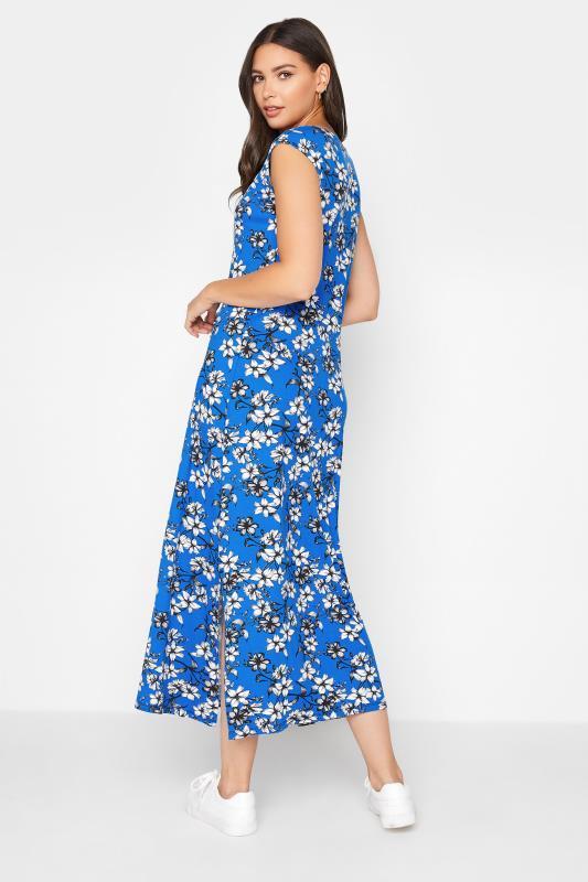 LTS Blue Floral Print V-Neck Midi Dress_C.jpg