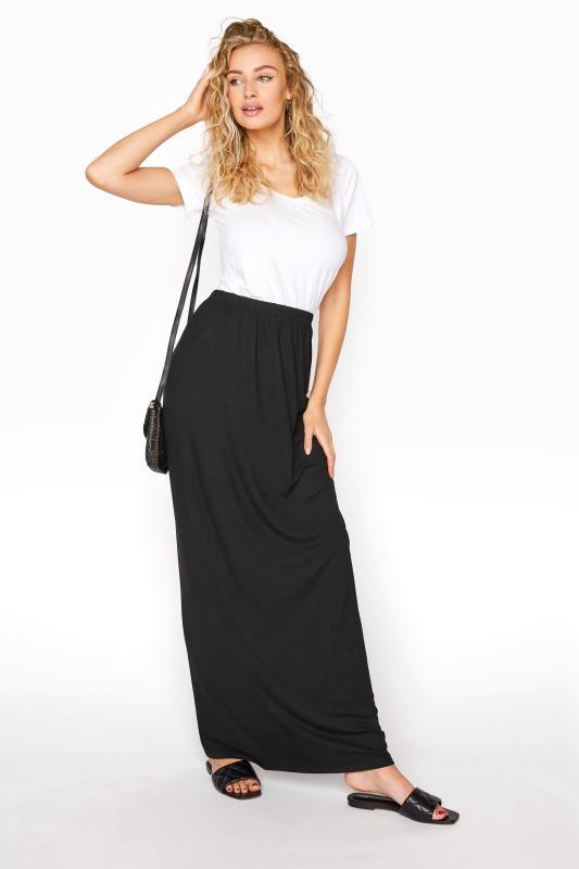 Tall  LTS Black Maxi Tube Skirt