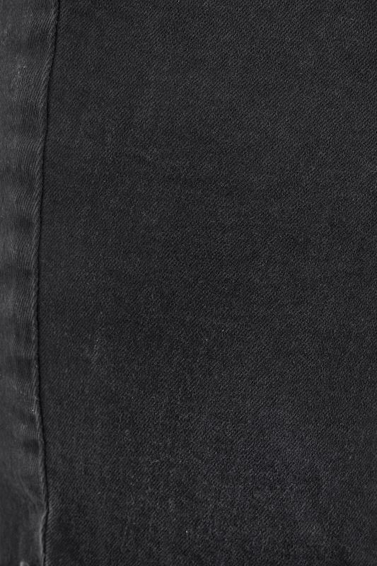 Washed Black Ripped Denim Mom Shorts_S.jpg