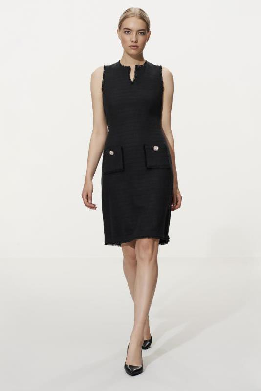 Tall Shift Dress Karl Lagerfeld Black Paris Tweed Dress