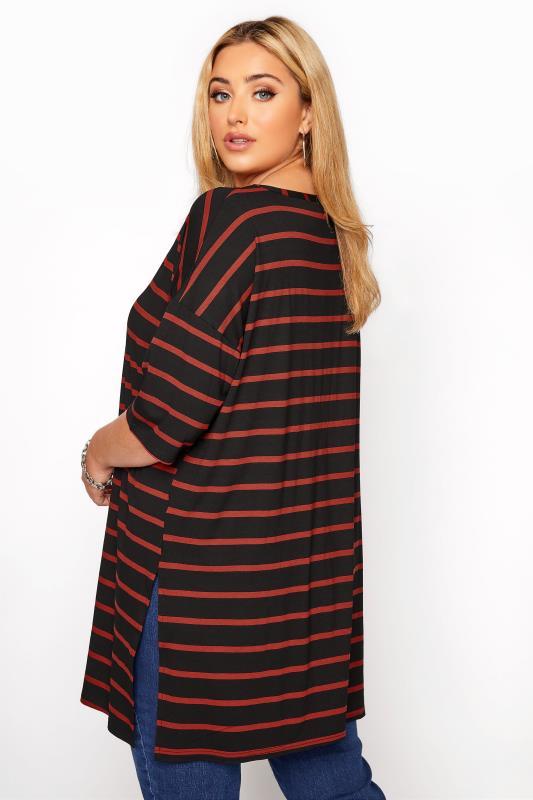 Black Rust Stripe Oversized T-Shirt_C.jpg
