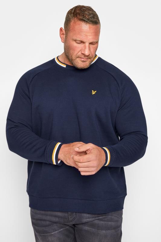LYLE & SCOTT Navy Double Tipped Sweatshirt_M.jpg
