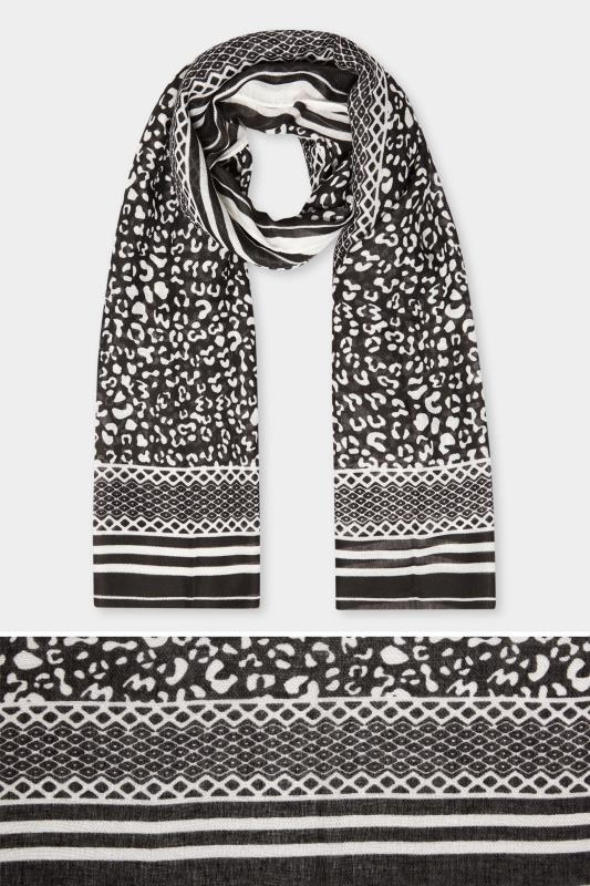 Black & White Animal Print Scarf