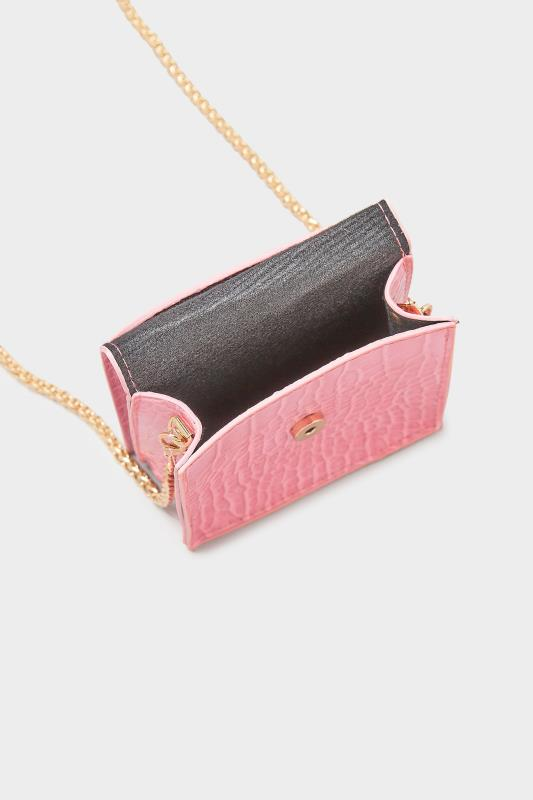 Hot Pink Croc Chain Crossbody Bag_E.jpg