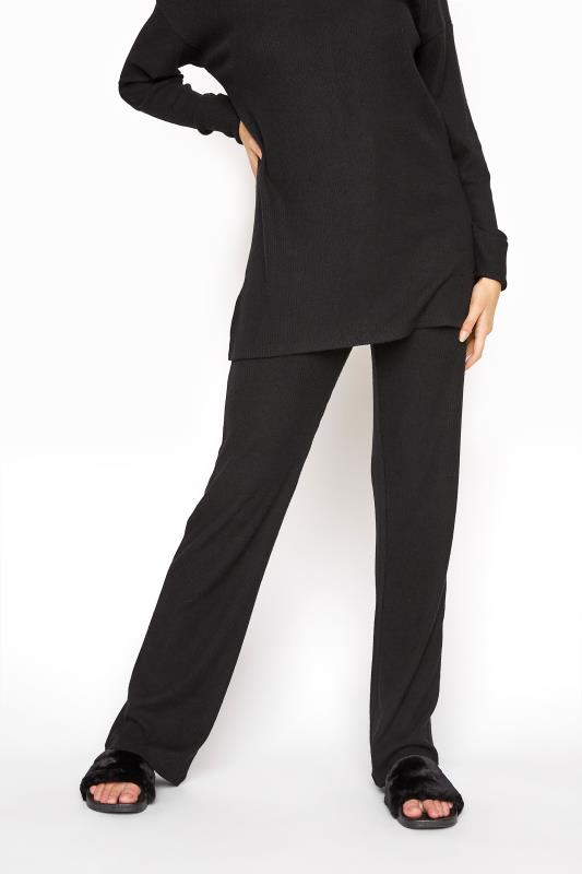 LTS Black Soft Touch Rib Trousers