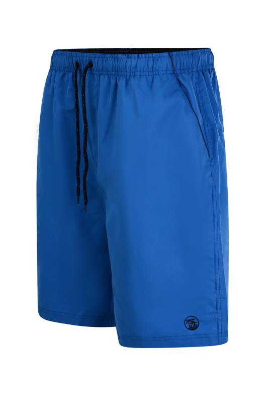 dla puszystych ESPIONAGE Blue Plain Dyed Swimshort