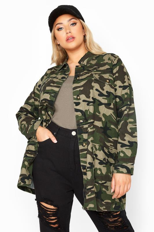 LIMITED COLLECTION Green Camo Shacket