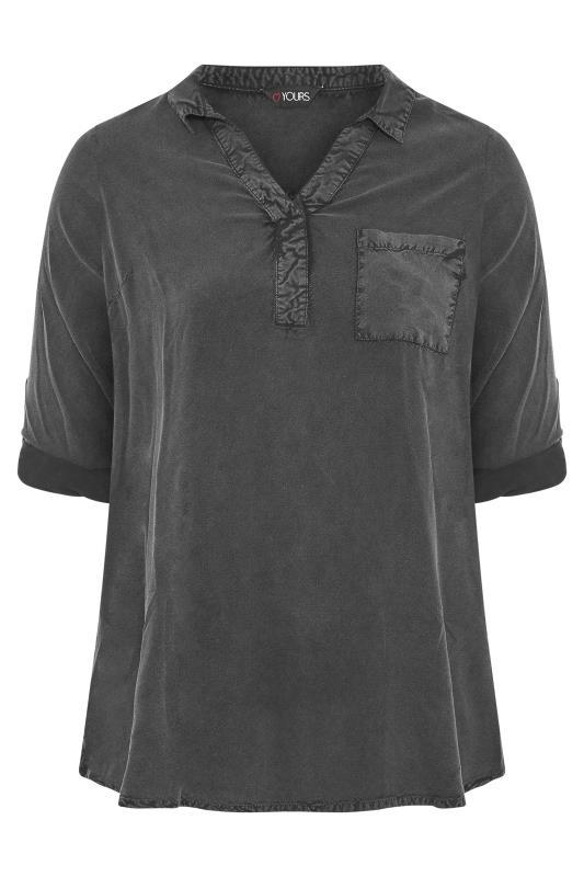 Black Acid Wash Overhead Shirt_F.jpg