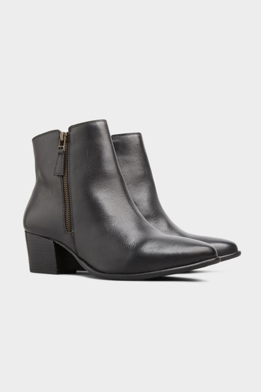 Black Leather Western Ankle Boots In Extra Wide Fit_B.jpg