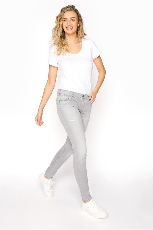 SILVER JEANS Grey Aiko Skinny Jeans