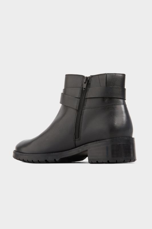 Black Leather Buckle Ankle Boots In Extra Wide Fit_C1.jpg