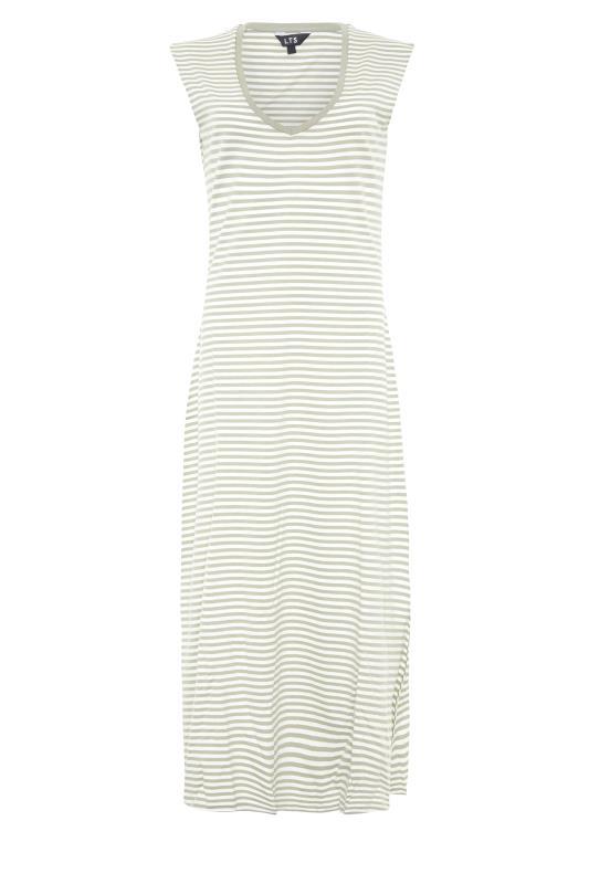LTS Sage Green Stripe Midi Dress_F.jpg