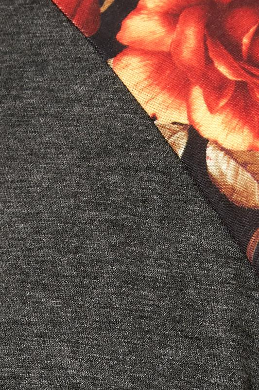 LIMITED COLLECTION Charcoal Floral Top_S.jpg