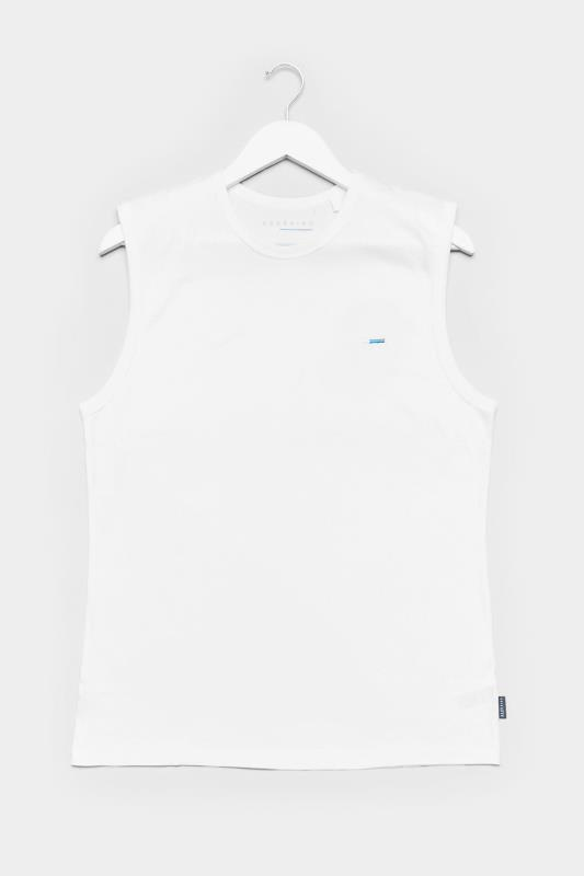 Men's Vests BadRhino White Muscle Vest