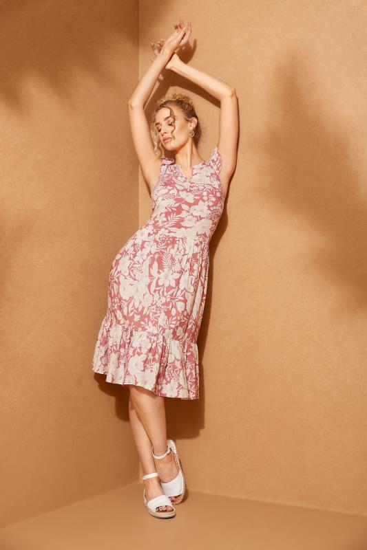 LTS Pink Tiered Frill Sleeve Floral Tunic_L.jpg
