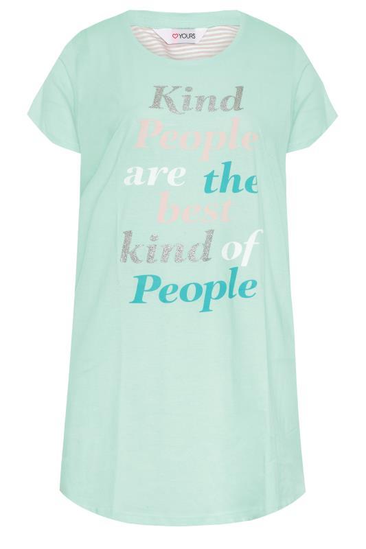 Mint Green 'Kind People' Dip Back Nightdress_F.jpg
