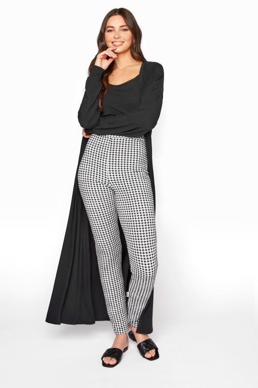 Tall  LTS Black Textured Gingham Trousers